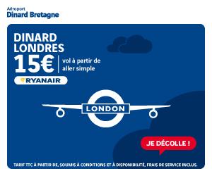 Vol Dinard Londres Ryanair